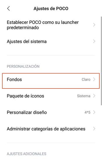 Activar modo oscuro en Android 8 o inferior con Launcher POCO paso 5