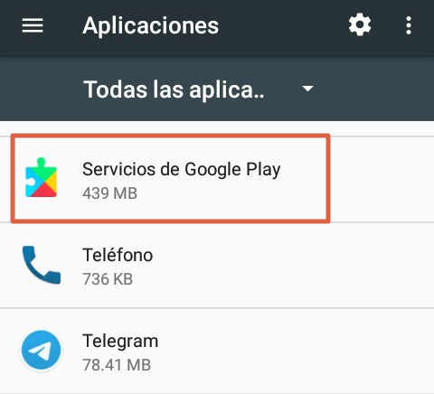 Actualizar Google Play Services paso 3