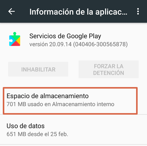 Actualizar Google Play Services paso 4