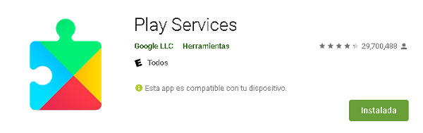 Actualizar Google Play Services