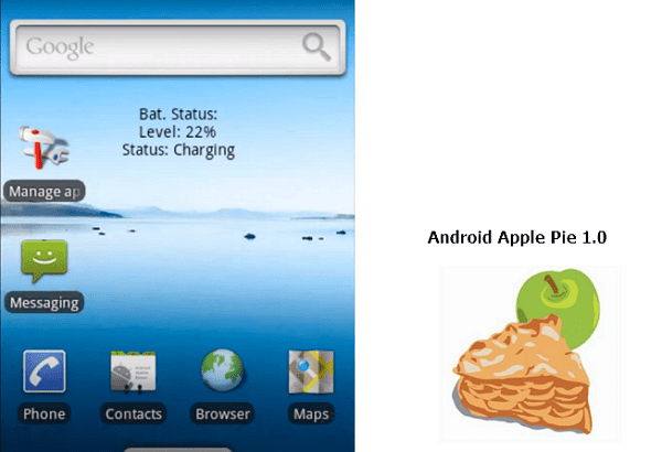 Android Apple pie 1.0