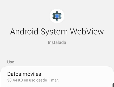 Cómo activar Android System Webview paso 7