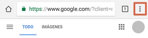 Cómo eliminar páginas que se abren solas en Google Chrome Android Página principal paso 1