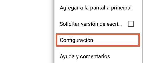 Cómo eliminar páginas que se abren solas en Google Chrome Android Página principal paso 2