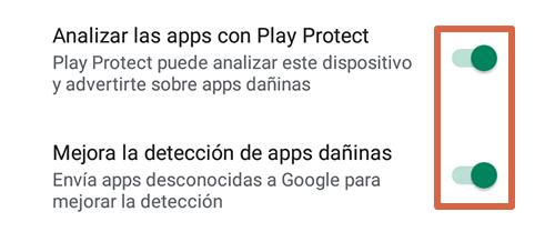 Cómo eliminar páginas que se abren solas en Google Chrome Android activando Play Protect paso 4