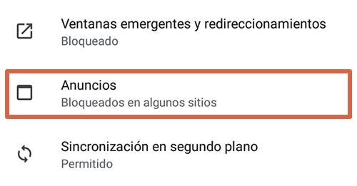 Cómo eliminar páginas que se abren solas en Google Chrome Android bloqueando anuncios paso 4