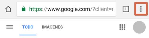 Cómo eliminar páginas que se abren solas en Google Chrome Android limpiando los datos de navegación paso 1
