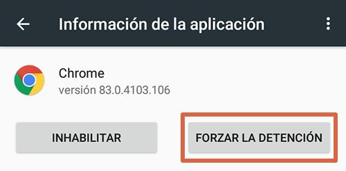 Cómo eliminar páginas que se abren solas en Google Chrome Android reinstalando las actualizaciones de Chrome paso 4