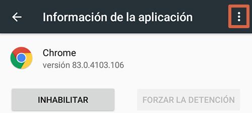 Cómo eliminar páginas que se abren solas en Google Chrome Android reinstalando las actualizaciones de Chrome paso 7