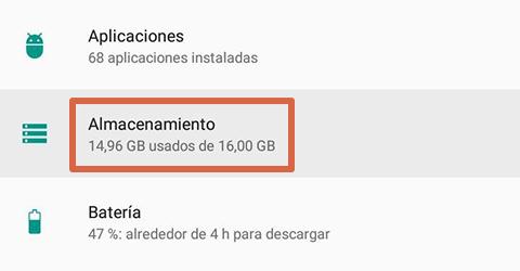 Cómo liberar espacio en Android borrando archivos de WhatsApp paso 1
