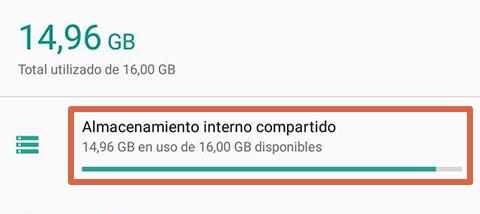 Cómo liberar espacio en Android borrando archivos de WhatsApp paso 2