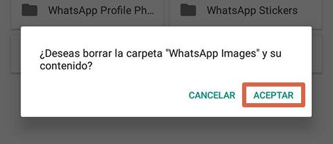Cómo liberar espacio en Android borrando archivos de WhatsApp paso 7