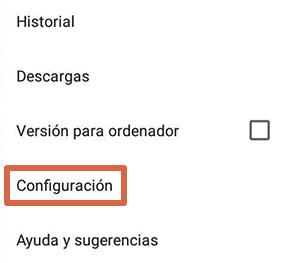 Cómo liberar espacio en Android borrando datos del navegador paso 2