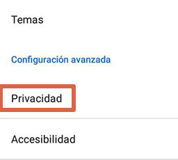 Cómo liberar espacio en Android borrando datos del navegador paso 3.