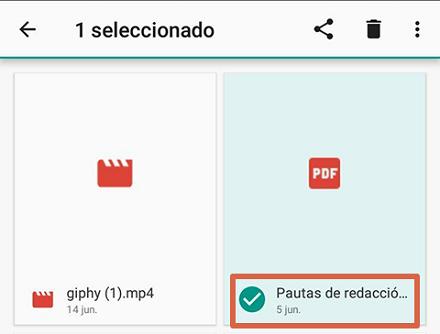 Cómo liberar espacio en Android borrando las descargas paso 2