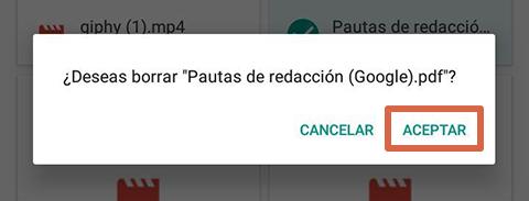 Cómo liberar espacio en Android borrando las descargas paso 3