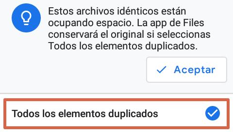 Cómo liberar espacio en Android con Files paso 4