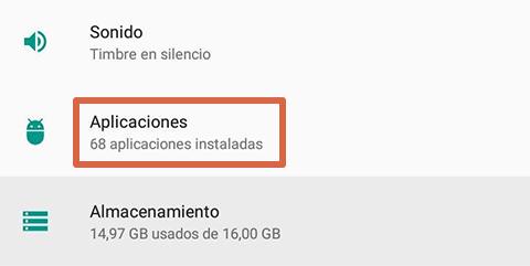 Cómo liberar espacio en Android desinstalando apps paso 2