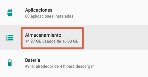 Cómo liberar espacio en Android limpiando el caché paso 1