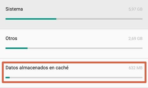 Cómo liberar espacio en Android limpiando el caché paso 3