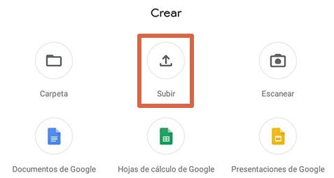 Cómo liberar espacio en Android subiendo archivos a Google Drive paso 2