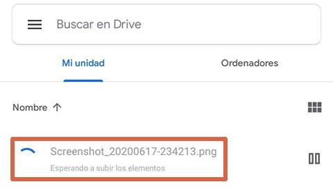Cómo liberar espacio en Android subiendo archivos a Google Drive paso 4