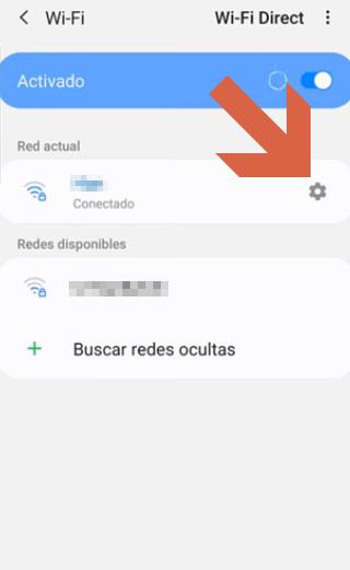 Cómo ver claves Wi-Fi en Android 10 paso 3