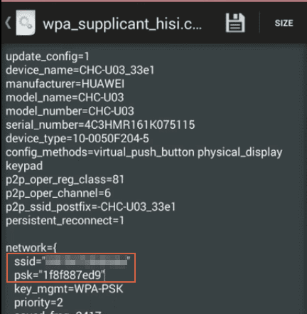 Cómo ver claves Wi-Fi guardadas en Android con Root Browser paso 7