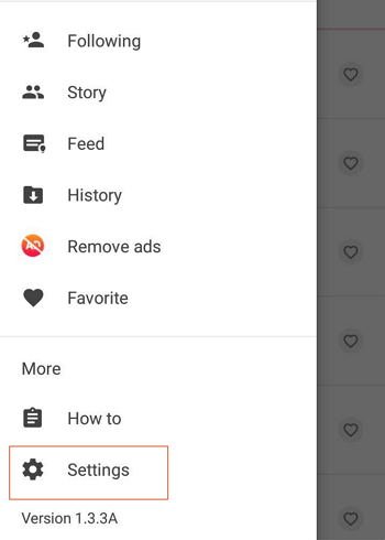 Cambiar idioma en Story Downloader paso 4