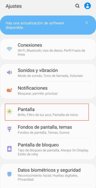 Como activar modo oscuro en Android 9 paso 2