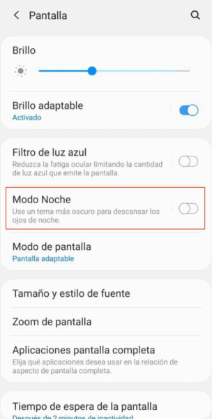 Como activar modo oscuro en Android 9 paso 3