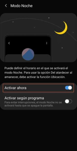 Como activar modo oscuro en Android 9 paso 4