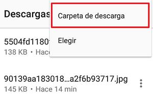 Comprobar carpeta de descarga en Opera paso 4.