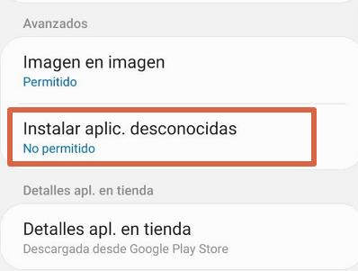 Descargar aplicaciones de origenes desconocidos Android 8.0, 9.0 y 10.0 paso 3