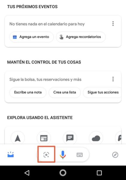 Escanear código QR con Google Lens paso 1