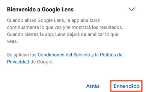 Escanear código QR con Google Lens paso 2