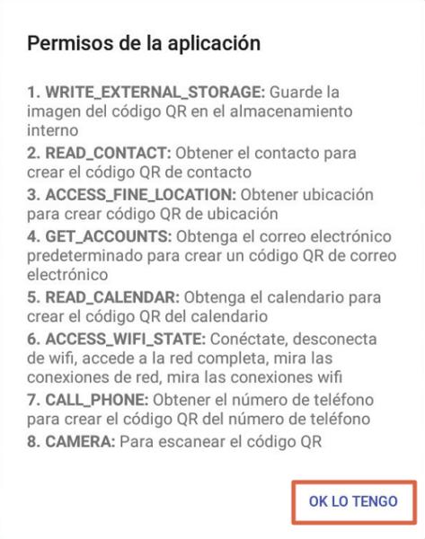 Escanear código QR con Lector de código QR paso 1