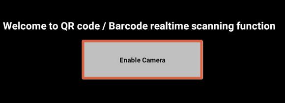 Escanear código QR con QR Code Reader paso 2
