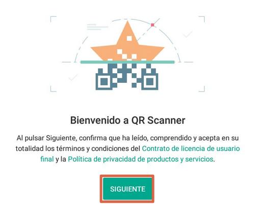 Escanear códigos QR con el lector y escáner de códigos QR paso 1