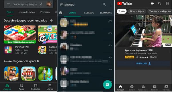 Forzar el modo oscuro en Android cambiando la apariencia de las aplicaciones