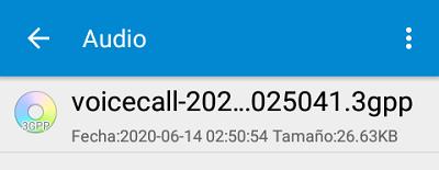 Grabar llamada telefónica paso 9