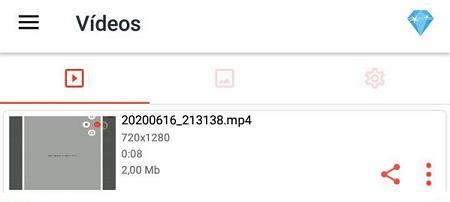 Grabar pantalla con AZ Screen Recorder paso 8.