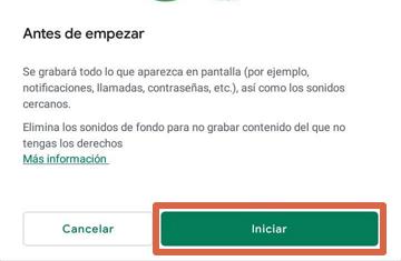 Grabar pantalla con Google Play Juegos paso 5