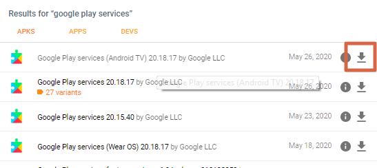 Instalar Servicios de Google Play paso 2