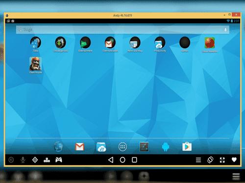Jugar juegos Android en PC con Andy