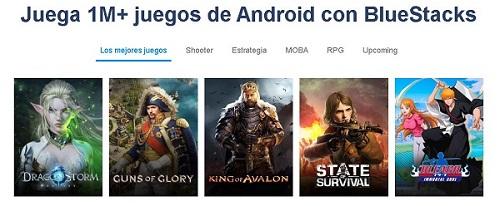 Jugar juegos Android en PC con Bluestacks