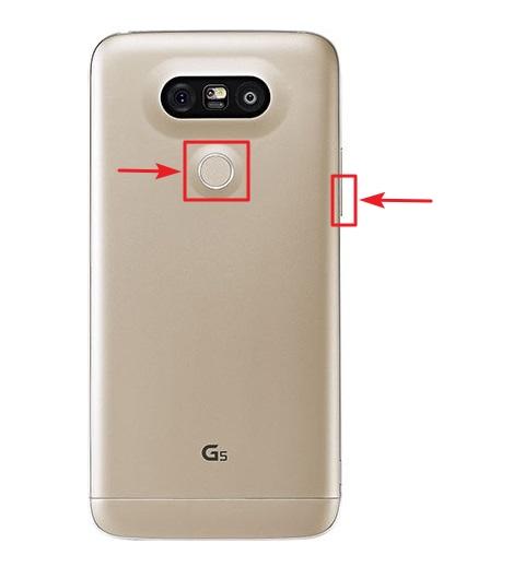 combinación de teclas hard reset lg g5