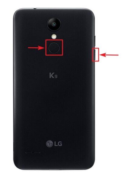 combinación de teclas hard reset lg k9