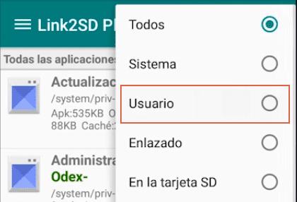 Mover aplicaciones a la SD con Link2SD paso 4