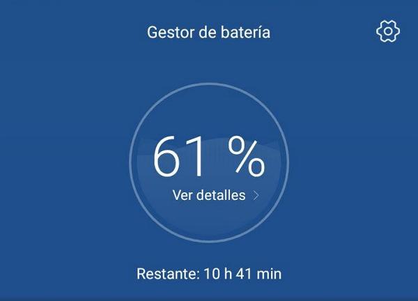 Nivel de carga en bateria Android